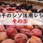 梅干しのシソ活用法レシピ!つい食べすぎちゃう王道の梅キュウ!